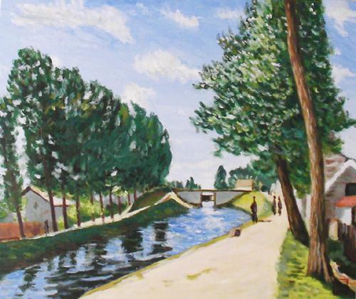 シスレー-モレのロワン運河