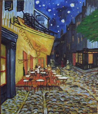 ゴッホ-夜のカフェテラス