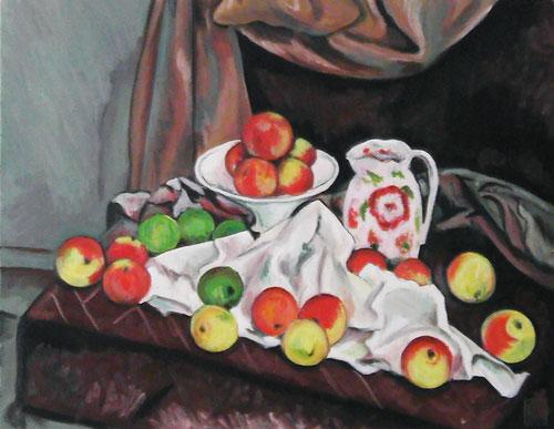 果物皿、水差し、果物-ポール・セザンヌ