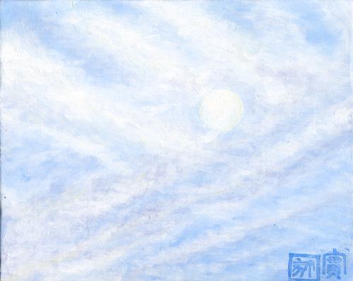 オリジナル-朝の月