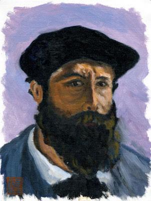 モネ-ベレー帽をかぶった自画像