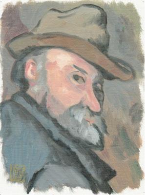 セザンヌ-帽子をかぶった自画像