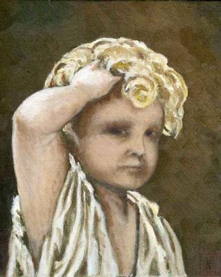 模写:ドレ「ラ・シエスタ、スペインの思い出」の部分