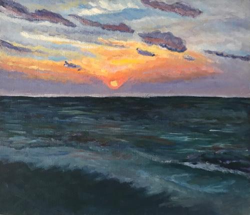 オリジナル-沖縄-朝の海